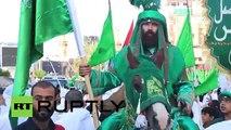 Iraq- Shia pilgrims flood Karbala to mark Ashura.....