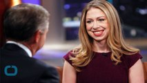 Hot Mama! Chelsea Clinton Flaunts Slim Figure in Fitted Black Dress 6 Months After Giving Birth