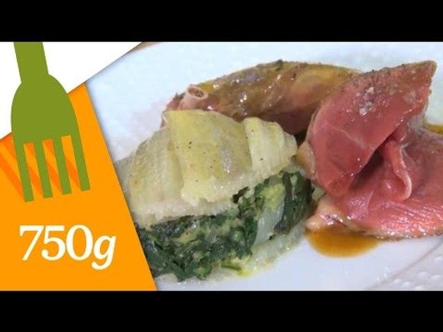 Recette de Pigeons fermiers et gratin de blettes au parmesan - 750 Grammes