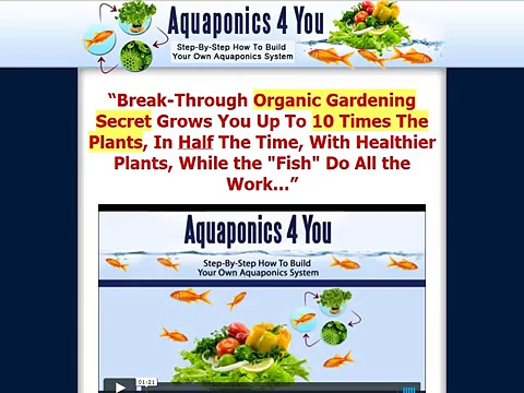 Aquaponics 4 You – Step-By-Step How To Build Your Own Aquaponics System Review