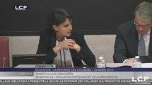 TRAVAUX ASSEMBLEE 14E LEGISLATURE : Audition de Mme Najat Vallaud-Belkacem sur la réforme des collèges