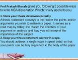 5 Ways to Write a MBA Dissertation