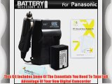 Battery And Charger Kit For Panasonic HDC-TM90K HDC-SD80K HDC-TM41H HDC-HS80K SDR-H100K SDR-S70K