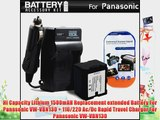 Battery And Charger Kit For Panasonic HC-X920 HC-X920M HDC-TM900K HDC-HS900K HDC-SD800K 3 MOS