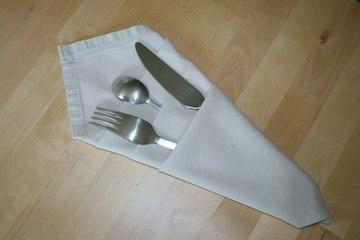 Origami - Serviette porte-couverts