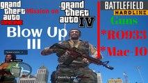 GTA V mission on GTA IV: Blow Up III with Battlefield Hardline Weapons (RO993&Mac-10)