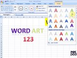 Lesson # 60 The Word Art (Microsoft Office Excel 2007_2010 Tutorial)