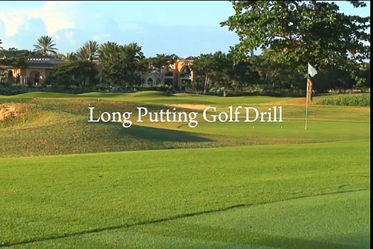 Long Putting Golf Drill