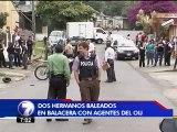 Dos hermanos fueron baleados en un aparente intento de bajonazo a un oficial del OIJ