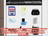 16GB Accessory Kit For Nikon COOLPIX P530 P520 P510 P500 P100 Digital Camera Includes 16GB