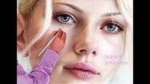 Scarlett Johansson - Amazing Speed Painting  Beautiful Girls HD