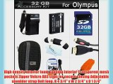 32GB Accessories Kit For Olympus TOUGH TG-1 iHS TG-1iHS TG-2 iHS TG-2iHS TG-3 Waterproof Digital