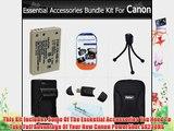Essential Accessories Bundle Kit For Canon PowerShot SX230HS 12 MP Digital Camera Includes