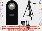 Vivitar RC-6 Wireless Shutter Release Remote Control   58 Tripod   Cleaning Kit for Rebel SL1