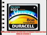 Duracell High Speed 8 GB 600X USB 2.0 Compact Flash Card Card UDMA DU-CF6008G-C