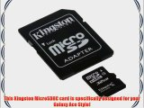 Professional Kingston 32GB MicroSDHC Card for Samsung Galaxy Ace Style with custom formatting