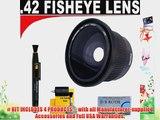 .42x HD Super Wide Angle Panoramic Macro Fisheye Lens   Lenspen   5 Pc Cleaning Kit   DB ROTH