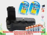 Maximal Power Replacement Battery Grip Combo for Canon Digital Rebel XS XSI and T1i