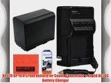 BP-970 BP970 Battery And Charger Kit For Canon XF100 XF105 XF300 XF305 GL1 GL2 XH-A1 XH-A1S