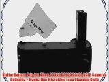 Vivitar Battery Grip for Nikon D3300 D3200 D3100 DSLR Cameras Batteries   MagicFiber Microfiber