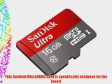 Professional Ultra SanDisk 16GB MicroSDHC Card for Kyocera Event Smartphone is custom formatted