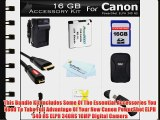 16GB Accessories Kit For Canon PowerShot ELPH 340 HS 16MP Digital Camera Includes 16GB High