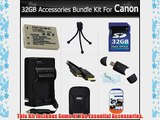 32GB Accessories Bundle Kit For Canon PowerShot SX230HS Digital Camera Includes 32GB High Speed