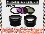 40.5mm Digital Pro Deluxe Lens Kit Includes 2x Telephoto Lens   0.45x HD Wide Angle Lens w/Macro