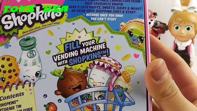 Funny SHOPKINS VENDING MACHINE Shopkins Play Doh Peppa pig toys Shopkins toys ToysUsa Channel