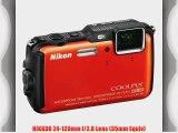Nikon COOLPIX AW120 Waterproof Digital Camera (Orange)   32GB Memory Kit   All in One High