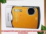Olympus Stylus 850 SW 8MP Shockproof Waterproof Digital Camera (Orange) - REFURBISHED