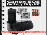 Professional Vertical Battery Grip With Shutter Release for Canon EOS T1I XSI Replacement BG-E5