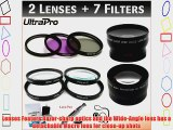 NEW 52mm Deluxe Lens   Filter Bundle Includes 2x Telephoto Lens   0.45x HD Wide Angle Lens