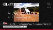 Brésil : un bus englouti par un cratère est emporté par la rivière