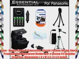 Must Have Accessories Kit For Panasonic Lumix DMC-LZ20 DMC-LZ20K DMC-LZ20R DMC-LZ30 DMC-LZ30K