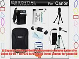 Essential Accessories Kit For Canon Powershot Elph 130 IS A2600 A2500 ELPH 135 140 IS ELPH