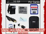 16GB Accessories Kit For Canon PowerShot ELPH 310 HS Digital Camera Includes 16GB High Speed