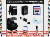 8GB Accessory Kit For Panasonic Lumix DMC-FZ60 DMC-FZ60K DMC-FZ100 DMC-FZ40 DMC-FZ47 DMC-FZ150
