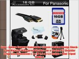 16GB Accessories Kit For Panasonic Lumix DMC-FZ200 DMC-G5 DMC-GH2DMC-G6KK Digital Camera Includes