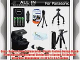 All In Accessories Kit For Panasonic Lumix DMC-LZ20 DMC-LZ20K DMC-LZ20R DMC-LZ30 DMC-LZ30K