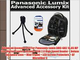 Advanced Accessory Kit For Panasonic Lumix DMC-GH2 16.05 MP Live Digital Camera Includes USB