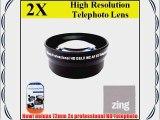 72mm 2X Telephoto Lens for panasonic AG-AC130 AG-AC160 AG-HMC150PJ AG-DVX100B professional