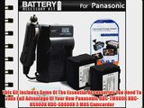 2 Pack Battery And Charger Kit For Panasonic HDC-TM900K HDC-HS900K HDC-SD800K 3 MOS Camcorder