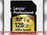 Lexar Professional 600x 128GB SDXC UHS-I Flash Memory Card LSD128CRBNA6002 - 2 Pack