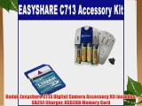 Kodak Easyshare C713 Digital Camera Accessory Kit includes: SB251 Charger KSD2GB Memory Card