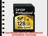 Lexar 128GB SDXC Class 10 UHS-I Flash Memory Card LSD128CTBNA400 - Retail Package