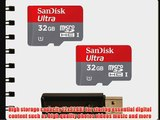 Sandisk 32GB x2 (64GB) MicroSD HC Ultra UHS-1 Memory Card Class 10 with SoCal Trade MicroSD