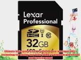 Lexar Professional 600x 32GB SDHC UHS-I Flash Memory Card LSD32GCTBNA600
