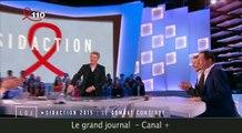 Antoine de Caunes embrasse Jean-Luc Romero au grand journal