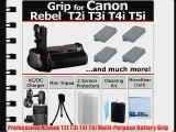 Professional EOS Rebel T2i T3i T4i T5i Multi Purpose Battery Grip for Canon EOS Rebel T2i T3i